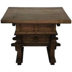 Rare 17th Century Swiss Merchant / Banker Table