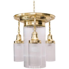 Jugendstil Ceiling Lamp Wit Glass Sticks, circa 1909