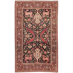 Small Antique Persian Khorassan Rug