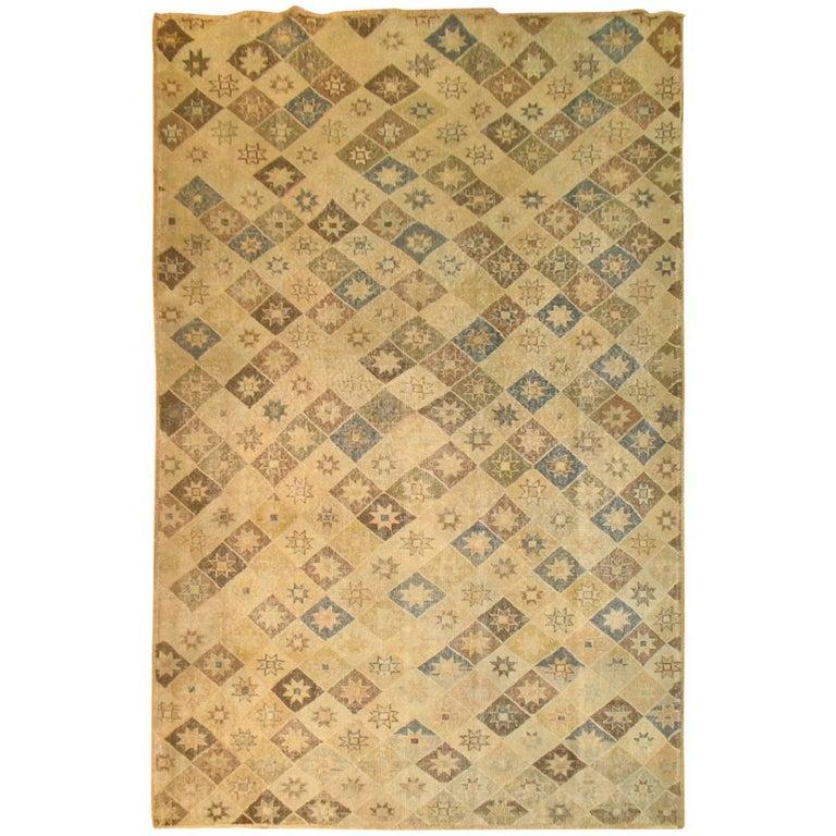 Vintage Turkish Deco Rug