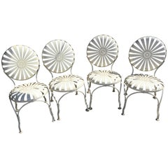 Set of Foyur Francois A. Carre Chairs French Patio