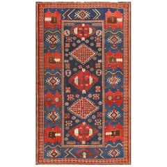 Small Antique Caucasian Kazak Rug