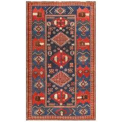 Small Antique Caucasian Kazak Rug