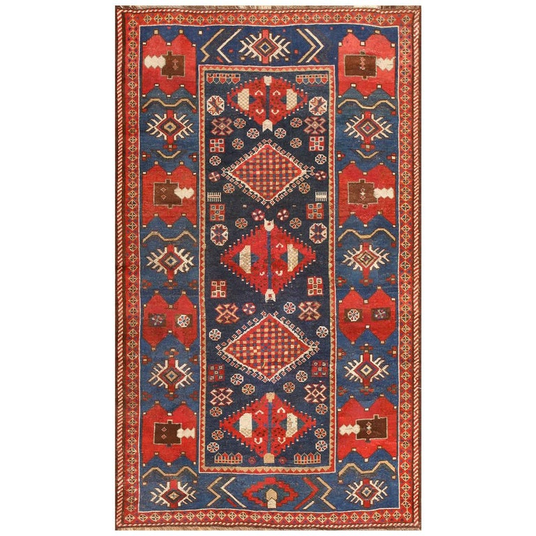Small Antique Caucasian Kazak Rug For Sale At 1stdibs
