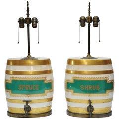 British Ceramics Spirit Jug with Brass Spigot