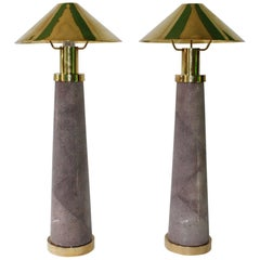 Pair of Light House Table Lamps by Karl Springer