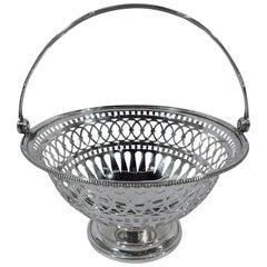 Gorham Edwardian Pierced Sterling Silver Basket