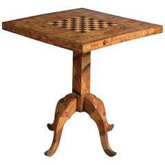 19th Century Japanese Marquetry Chess Table
