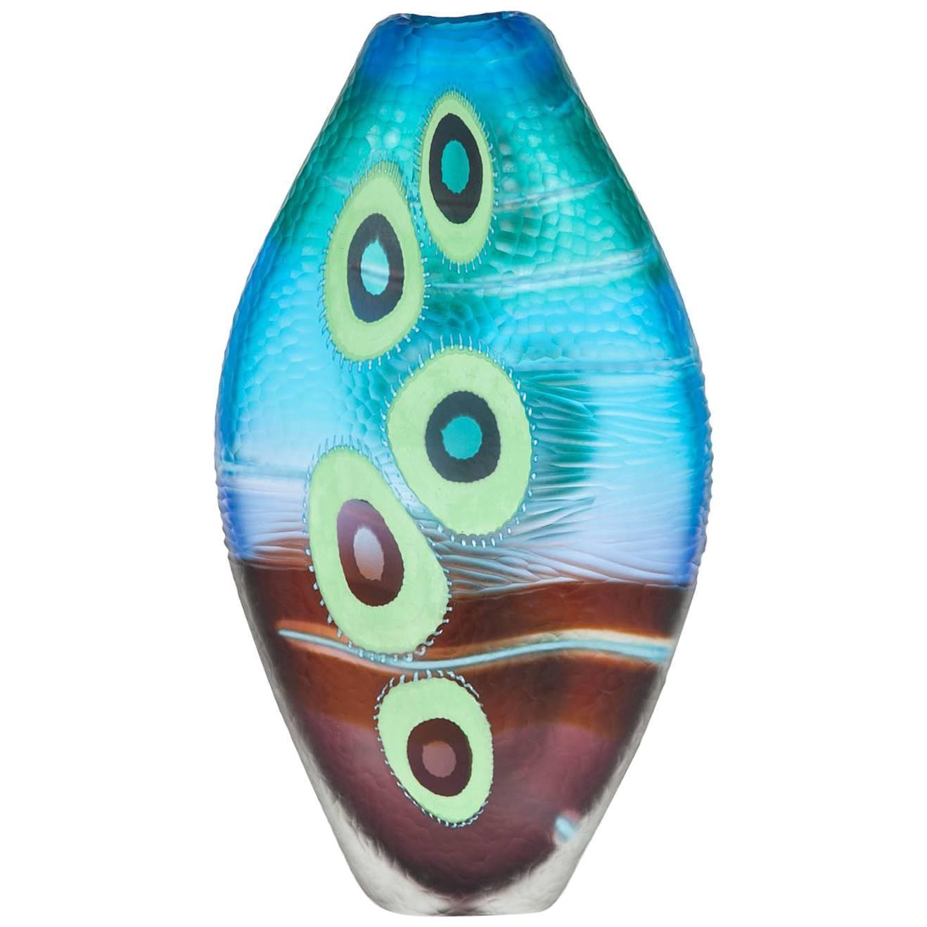 Evviva III, a mixed coloured sculptural glass vase by Marco & Mattia Salvadore