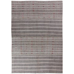 Large Nomadic Cotton and Goat Hair Anatolian Kilim