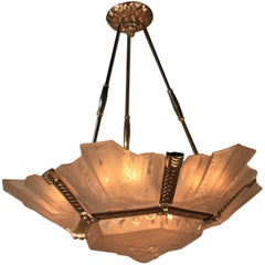 Magnificent French Art Deco Chandelier by Muller Freres