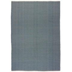 Contemporary Custom Flat-Weave 'A-6' Design Carpet