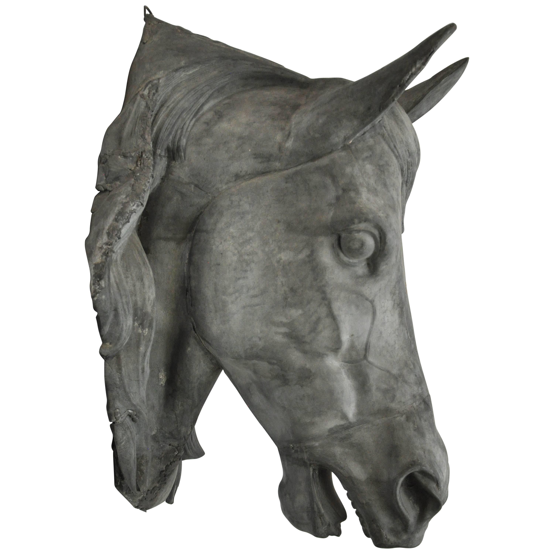 French Zinc Horse Head