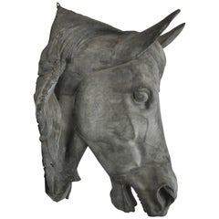 French Zinc Horse Head