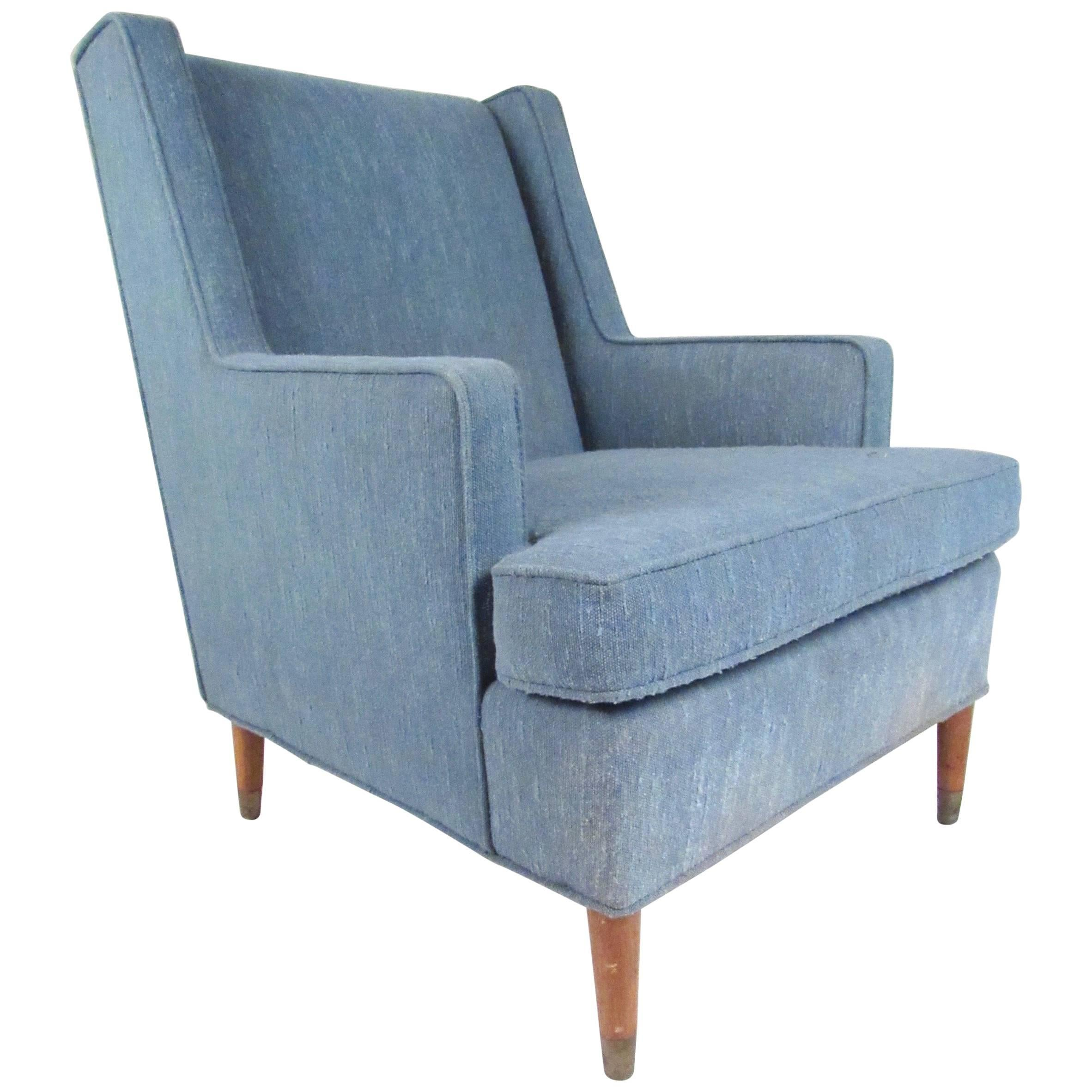 Vintage Modern Upholstered Lounge Chair