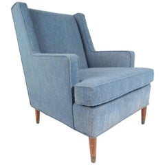 Vintage Modern Upholstered Lounge Chair