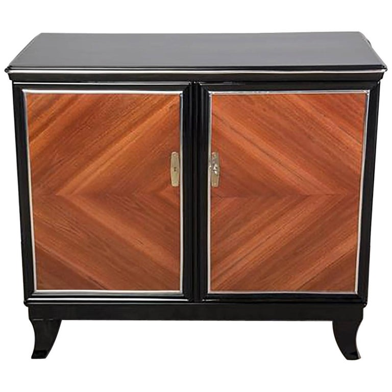 french art deco two door commode by mile jacques ruhlmann for sale at 1stdibs. Black Bedroom Furniture Sets. Home Design Ideas