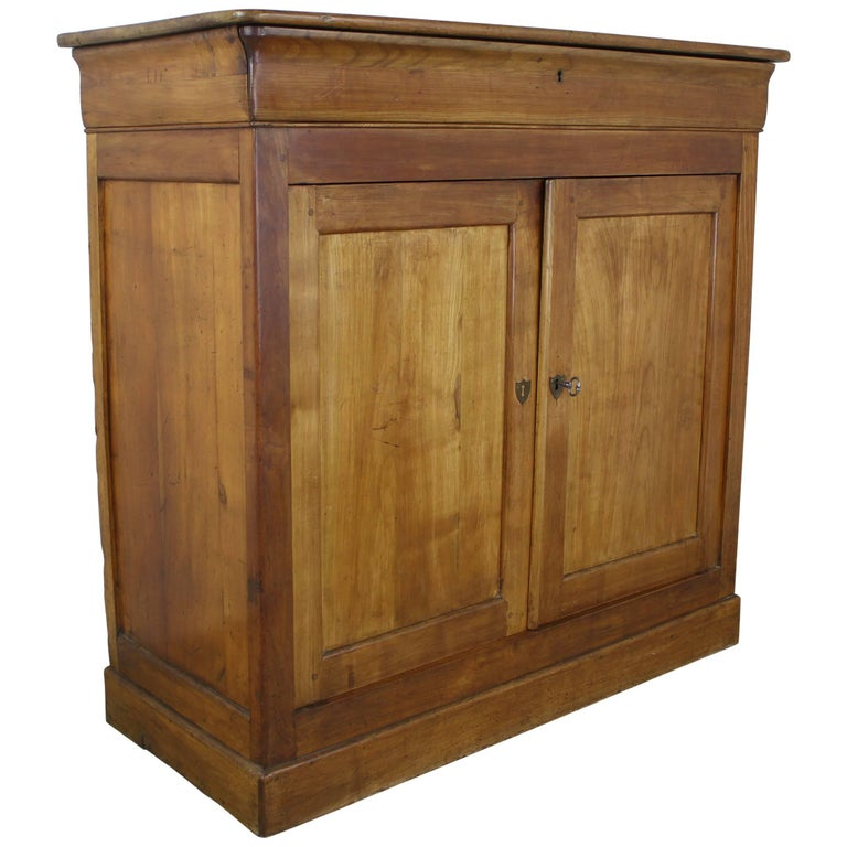 Tall Antique Fruitwood Louis Philippe Buffet
