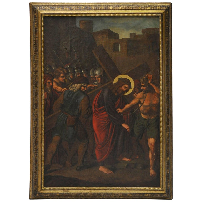 Late 18th Century, Painting of Christ Carrying the Cross