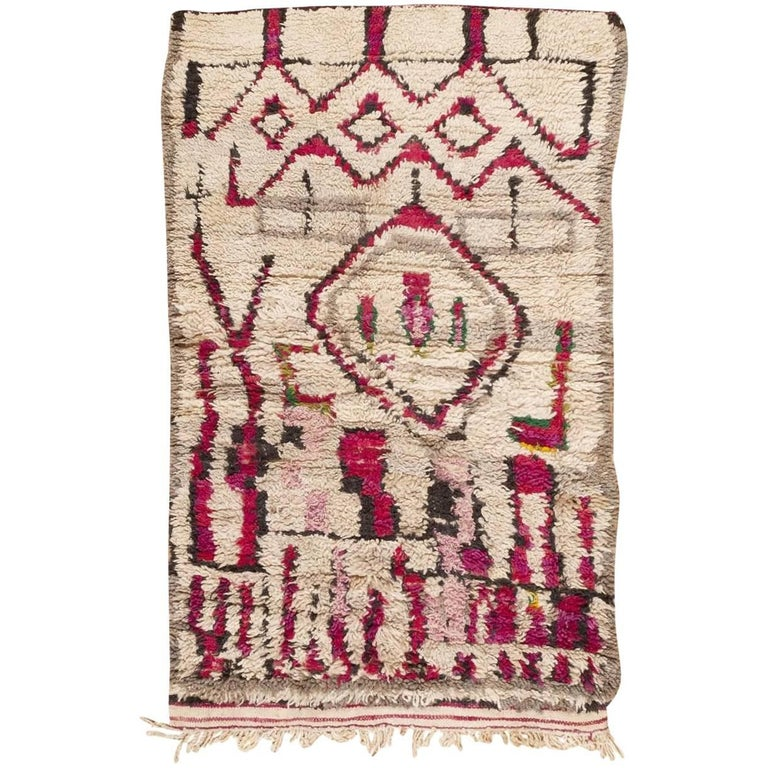 Colorful vintage moroccan rug for sale at 1stdibs for Colorful rugs for sale