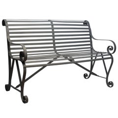 19th Century Iron Garden Bench
