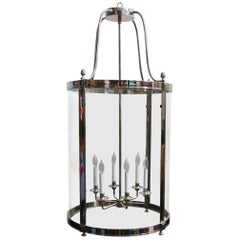 Monumental Nickel-Plated Neoclassical Style Lantern