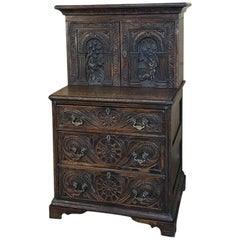 18th Century French Petit Renaissance Two-Tiered Cabinet Commode