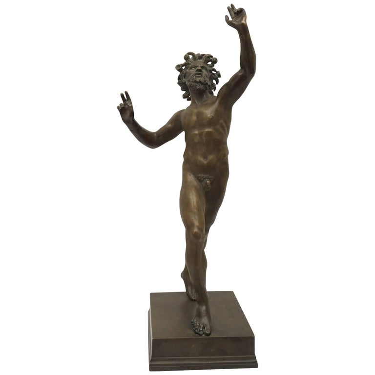 Late 19th Century Italian Grand Tour Bronze Casting of the Faun of Pompeii