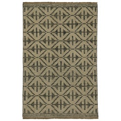 High and Low Texture Rug with Contemporary Modern Style, Geometric Accent Rug