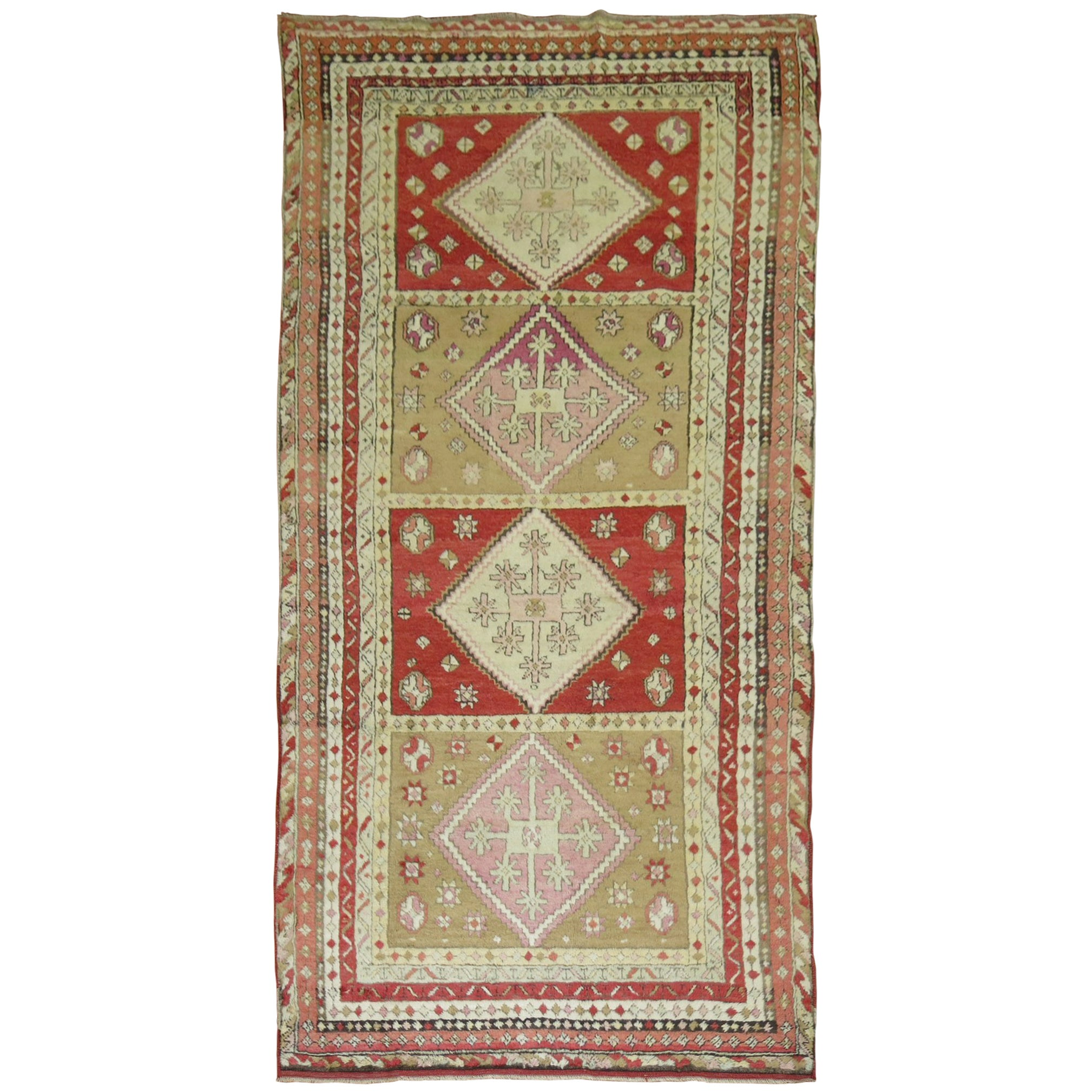 Intricate Antique Turkish Sivas Rug
