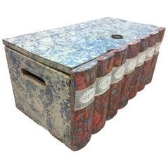 Vintage Italian 19th Century Book Box, Faux Set of Seven
