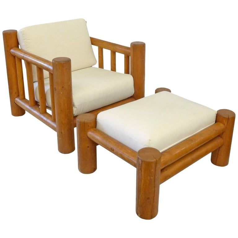 Lodgepole Armchair and Ottoman 1