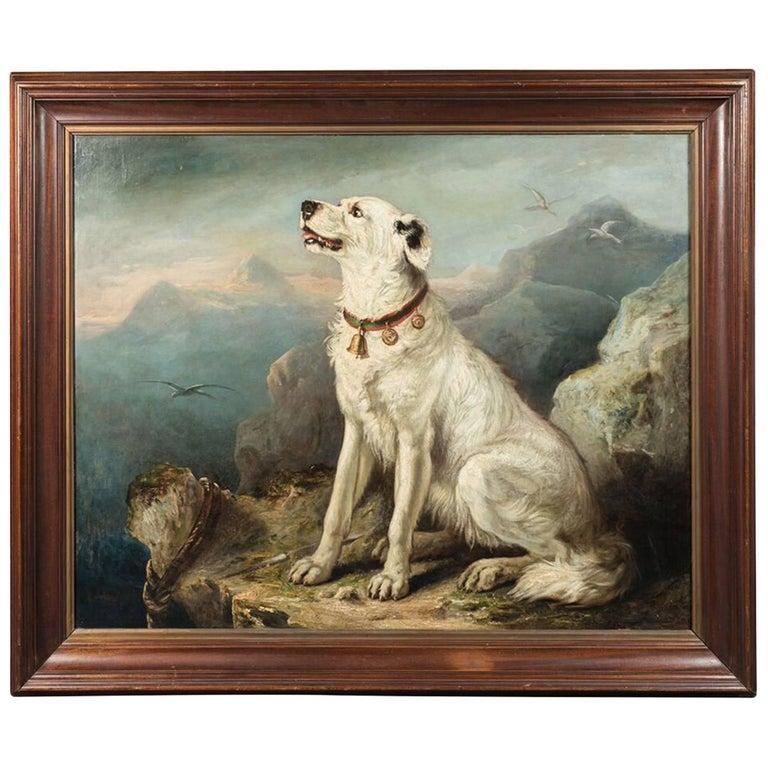 Massive, 19th Century Dog Portrait