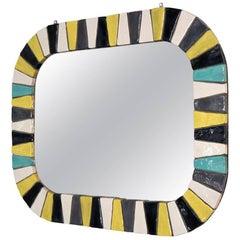 Italian Ceramic Tile Mirror