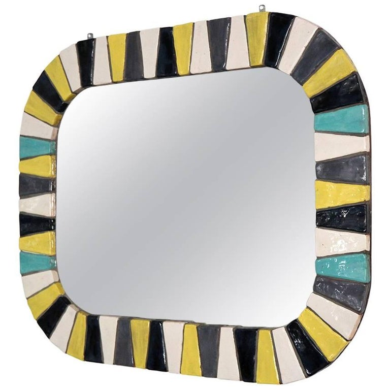 Italian Ceramic Tile Mirror 1