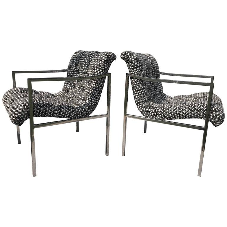Milo Baughman Scoop Chairs