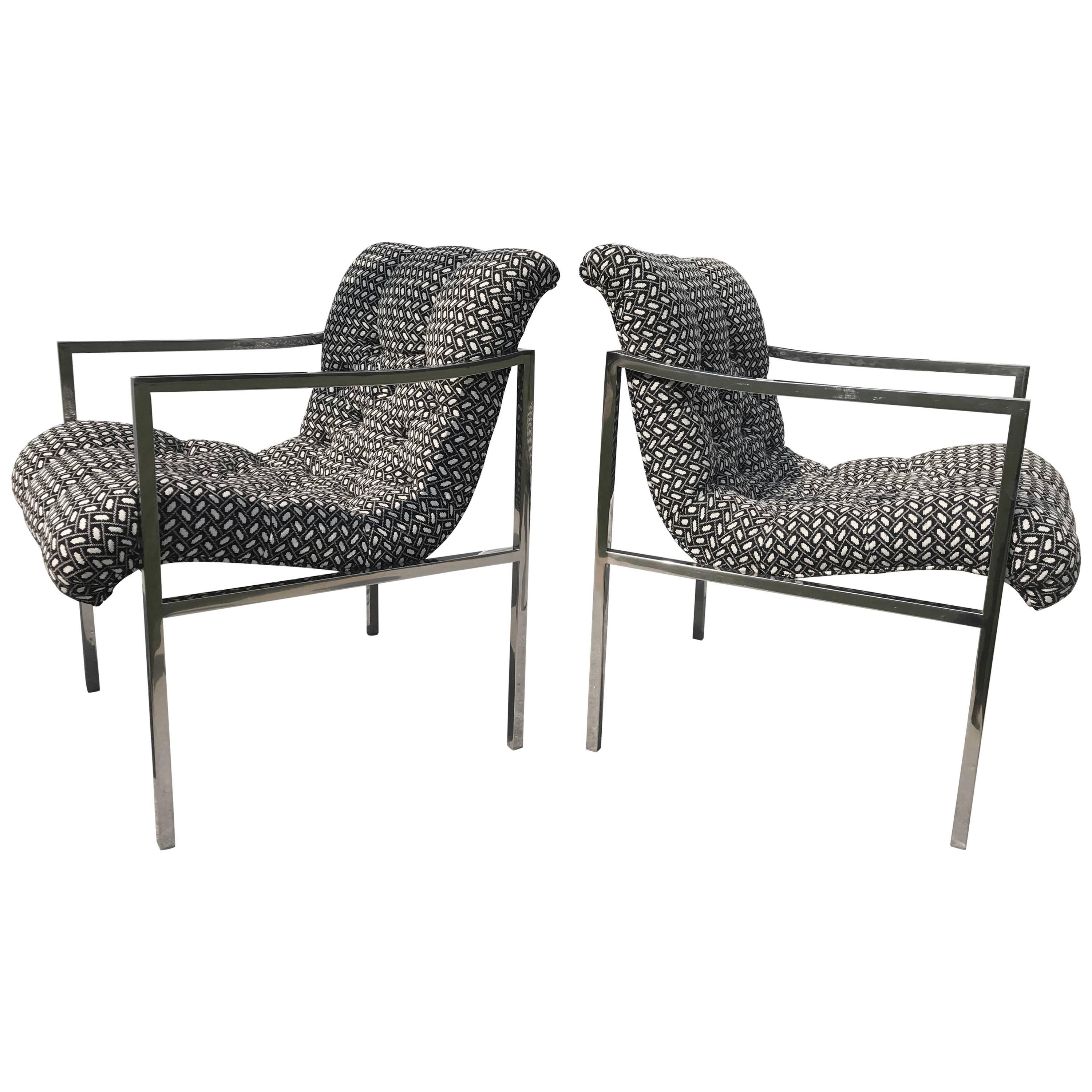 Milo Baughman Scoop Lounge Chairs 1