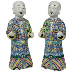 Pair of Chinese Porcelain Figures of Court Ladies
