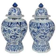 Blue and White Delft Vases