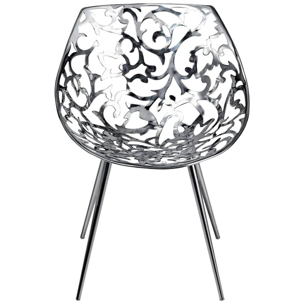 miss lacy steel casting flower patterned chair by philippe starck Traditional Style Decorating miss lacy steel casting flower patterned chair by philippe starck for driade for sale
