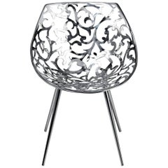 """Miss Lacy"" Steel Casting Flower Patterned Chair by Philippe Starck for Driade"