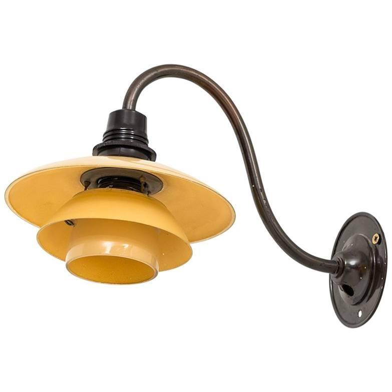 Poul Henningsen Wall Lamp Model PH-1 by Louis Poulsen in Denmark