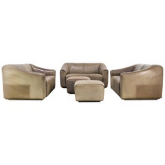 """DeSede """"DS47"""" Sofa Seating Group Set of Five"""
