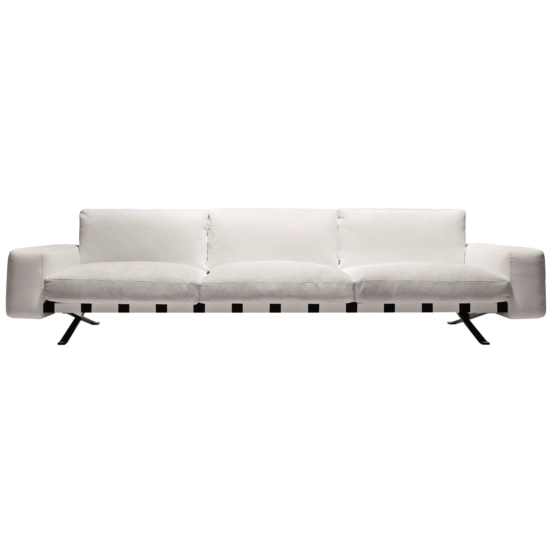 """Fenix"" Three-Seat Sofa Designed by Ludovica and Roberto Palomba for Driade"