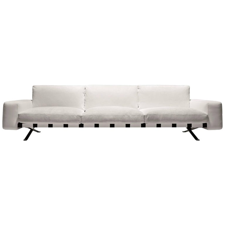 """""""Fenix"""" Three-Seat Sofa Designed by Ludovica and Roberto Palomba for Driade For Sale"""