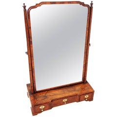 Antique 18th Century Walnut Dressing Table Mirror