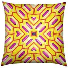 Palmares Print Lemon Deco Pillow by Lolita Lorenzo Home Collection, 2017