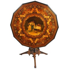 Rare 19th Century Sorrento Inlaid Table by Luigi Gargiulo