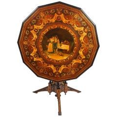Rare 19th Century Sorrento Inlaid Table by Almerico Gargiulo
