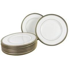 Set of Twelve Royal Doulton 'Clarendon' Dinner Plates